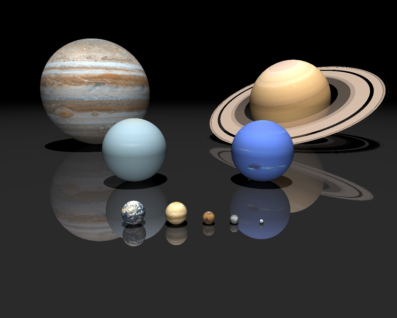 Saturn Compared to Other Planets - Pics about space
